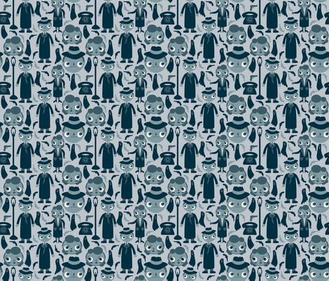 Film Noir fabric by heidikenney on Spoonflower - custom fabric
