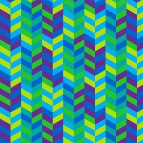 (A3)  - Herringbone in cool colors
