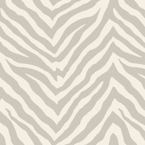 Zebra in Cashmere Gray