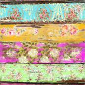 Roccoco Fleur Multi floral ~ Paris Bebe Fabrics