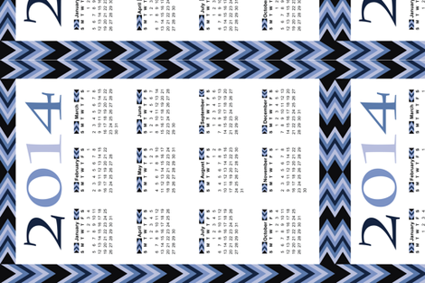Lakeside-Blues-Tea-Towel-2014 fabric by hmooreart on Spoonflower - custom fabric
