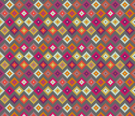 Bold Moroccan Diamonds SMALL fabric by mrshervi on Spoonflower - custom fabric
