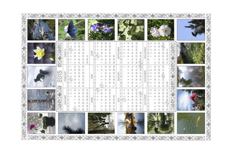 2015 Full-Moon Teatowel Photo Calendar - white - with full moon dates - CA time fabric by mina on Spoonflower - custom fabric