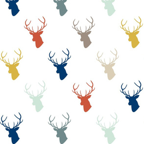 Modern Deer with Navy
