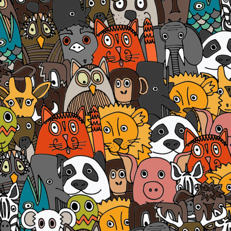 plushies fabric by scrummy on Spoonflower - custom fabric