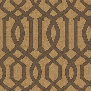 Victoria Trellis in Chocolate on Linen
