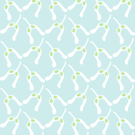 nosies (lt aqua sky) fabric by pattyryboltdesigns on Spoonflower - custom fabric