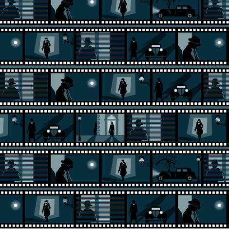 Film noir fabric by ebygomm on Spoonflower - custom fabric