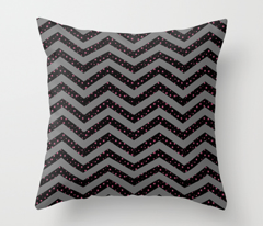 Black and Grey Chevron with Pink Stars