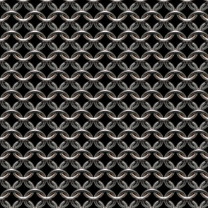"Chainmaille - (1"") Black Background"