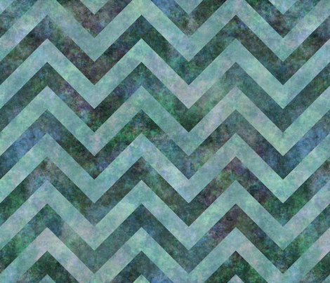 Splotchy chevrons blue