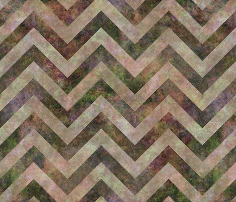 Distressed chevrons brown