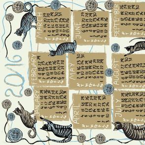 cat lover's calendar 2016