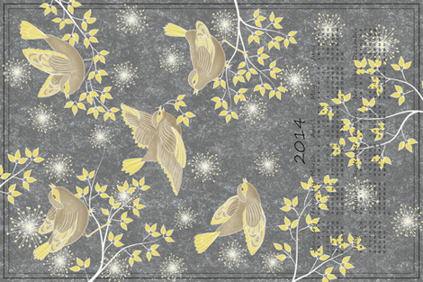 Free-flying into 2014 fabric by vo_aka_virginiao on Spoonflower - custom fabric