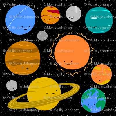 Solar System Set - Large Decals