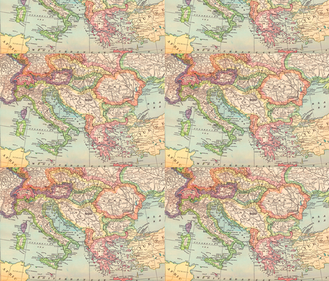 Italy and Surround fabric by aftermyart on Spoonflower - custom fabric