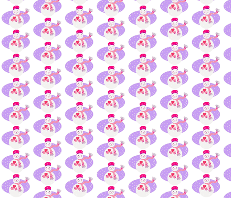 Snow Girl fabric by disgusted_cats on Spoonflower - custom fabric