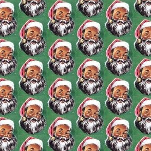 Winking Black Santa