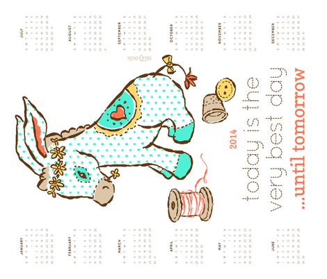 2014_Calendar_Summer fabric by nicky_ovitt on Spoonflower - custom fabric