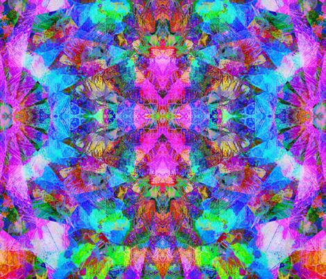 Painted Rays fabric by charldia on Spoonflower - custom fabric