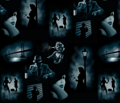 San Fransisco Noir fabric by sugarpinedesign on Spoonflower - custom fabric