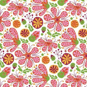 Wild Pink Blooms_onWhite