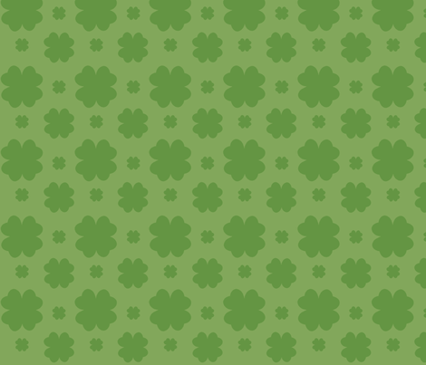 Clover All Over fabric by carbonatedcreations on Spoonflower - custom fabric