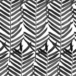 Luxe Palm Leaf (black + white)