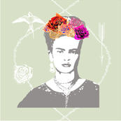 Frida Kahlo (mist) CUSHION COVER