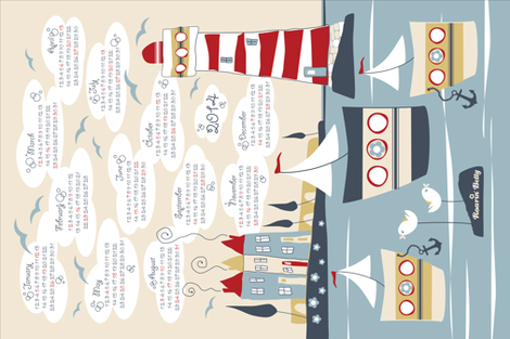 Land_Ahoy__2014 fabric by roarin_betty on Spoonflower - custom fabric