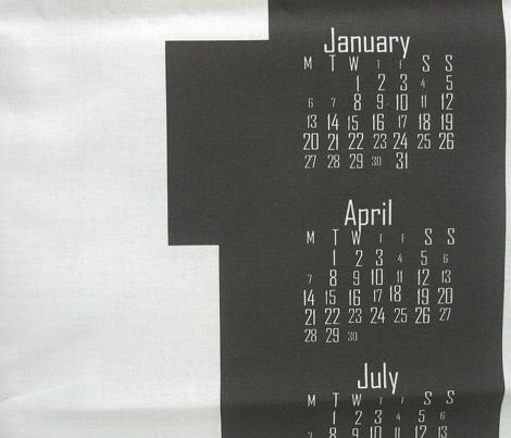 2014 8-bit BW Hipster Teatowel Calendar