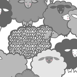 Sheep Shape (gray)