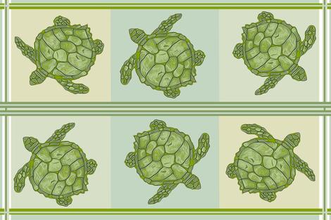Sea Turtle Kitchen Towel Design fabric by lauriekentdesigns on Spoonflower - custom fabric