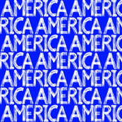 Graffiti Scribbles America Blue 2