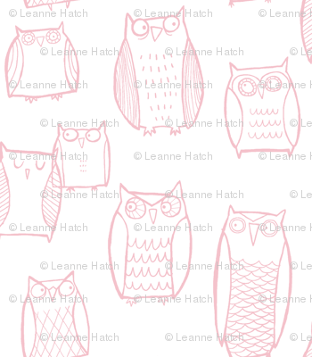 Little Night Owl white/Pink