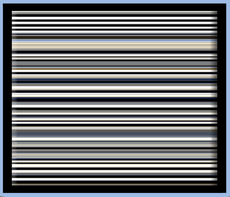 Stripes Framed in Blue
