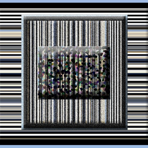Framed Stripes on Blue