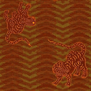 Tiger Chevron Ikat