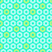 Imperial Cogs in White Teal and Yellow