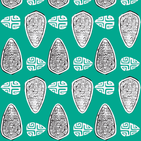 Havaiki Holiday marquesan shield fabric by sophista-tiki_by_dawn_frasier on Spoonflower - custom fabric