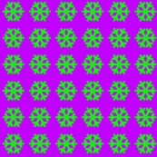 Lime Snowflakes on Purple