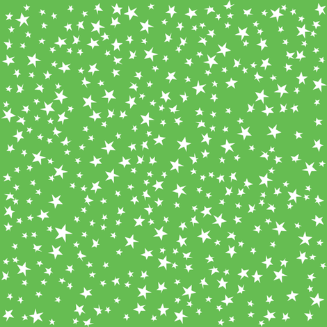 Scattered Stars (Green) fabric by robyriker on Spoonflower - custom fabric