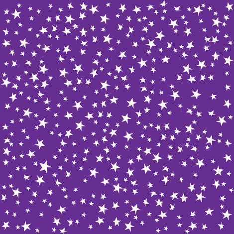 Scattered Stars (Purple) fabric by robyriker on Spoonflower - custom fabric