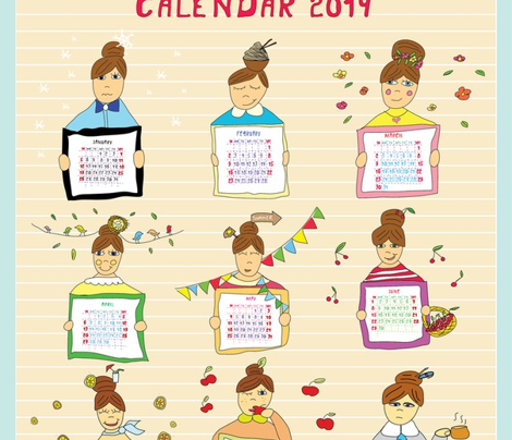 Tea towel calendar 2014