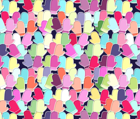 sherbet mittens fabric by scrummy on Spoonflower - custom fabric