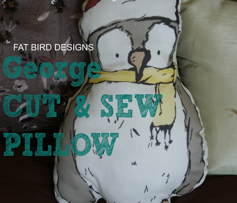 George the Owl Cut & Sew Pillow