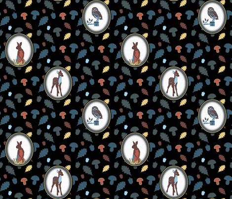 Black Forest fabric by vannina on Spoonflower - custom fabric