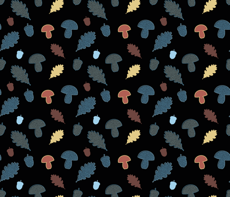 Background Black Forest fabric by vannina on Spoonflower - custom fabric