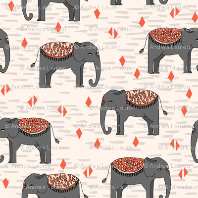 Elephant Parade - Champagne/Charcoal/Blush/Coral