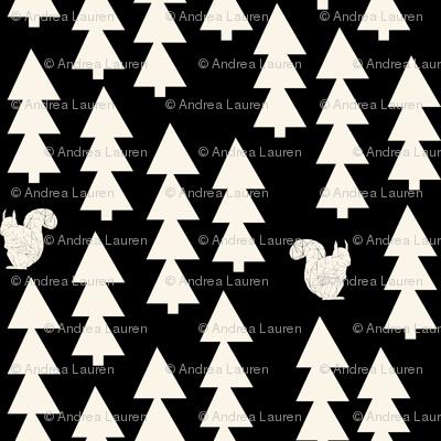 Andrea Lauren Woodland Squirrel - Black/Cream